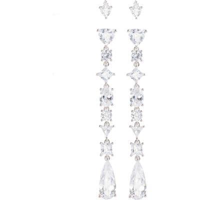 Nordstrom Set Of 4 Cubic Zirconia Stud And Drop Earrings