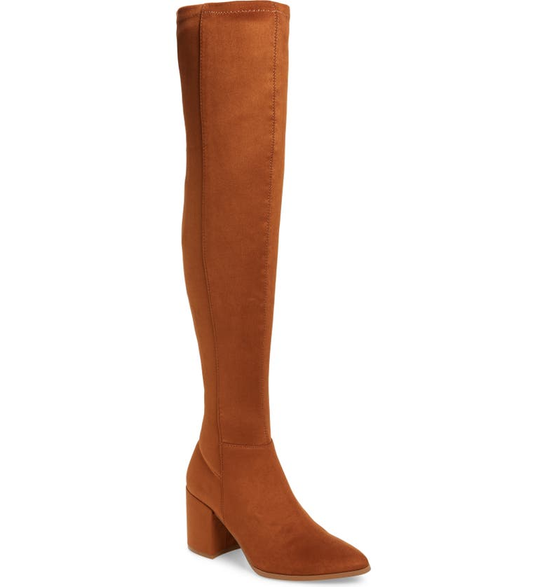 STEVE MADDEN Jacey Over the Knee Boot, Main, color, CHESTNUT