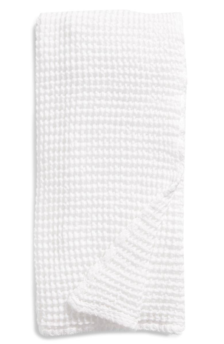 NORDSTROM Waffle Bath Towel, Main, color, WHITE