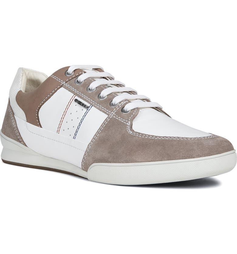 GEOX Kristof 11 Sneaker, Main, color, WHITE/ SMOKE GREY