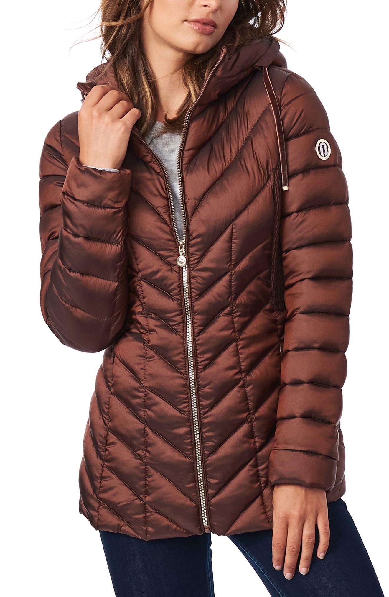 Ecoplume(TM) Hooded Packable Puffer Jacket