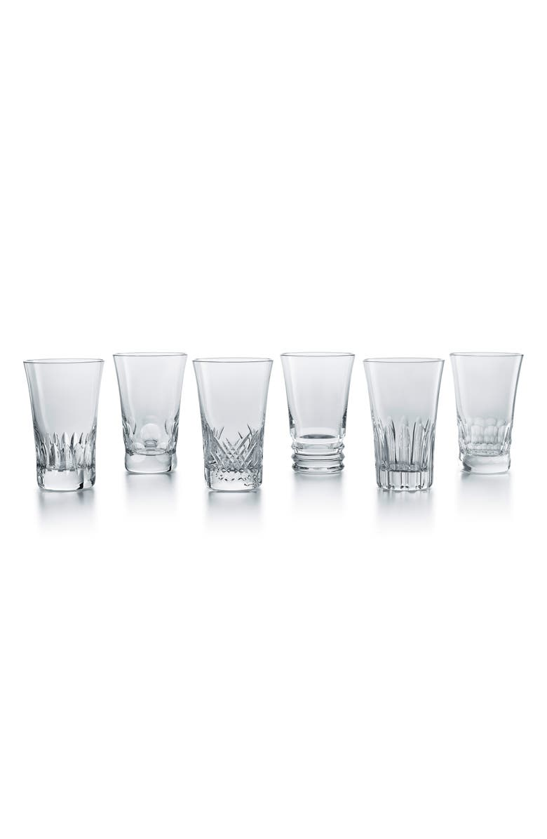 BACCARAT Everday Grande Set of 6 Lead Crystal Highball Glasses, Main, color, CLEAR