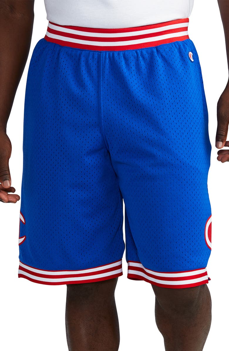 CHAMPION Rec Mesh Athletic Shorts, Main, color, SURF THE WEB