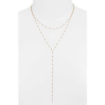Argento Vivo Enamel Bead Layer Y-Necklace
