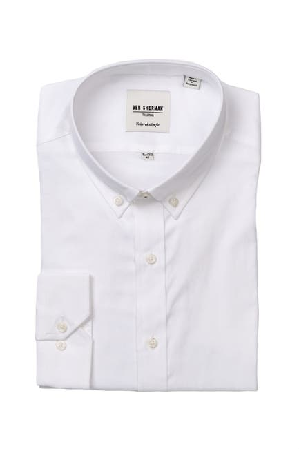 Image of Ben Sherman Oxford Slim Fit Dress Shirt
