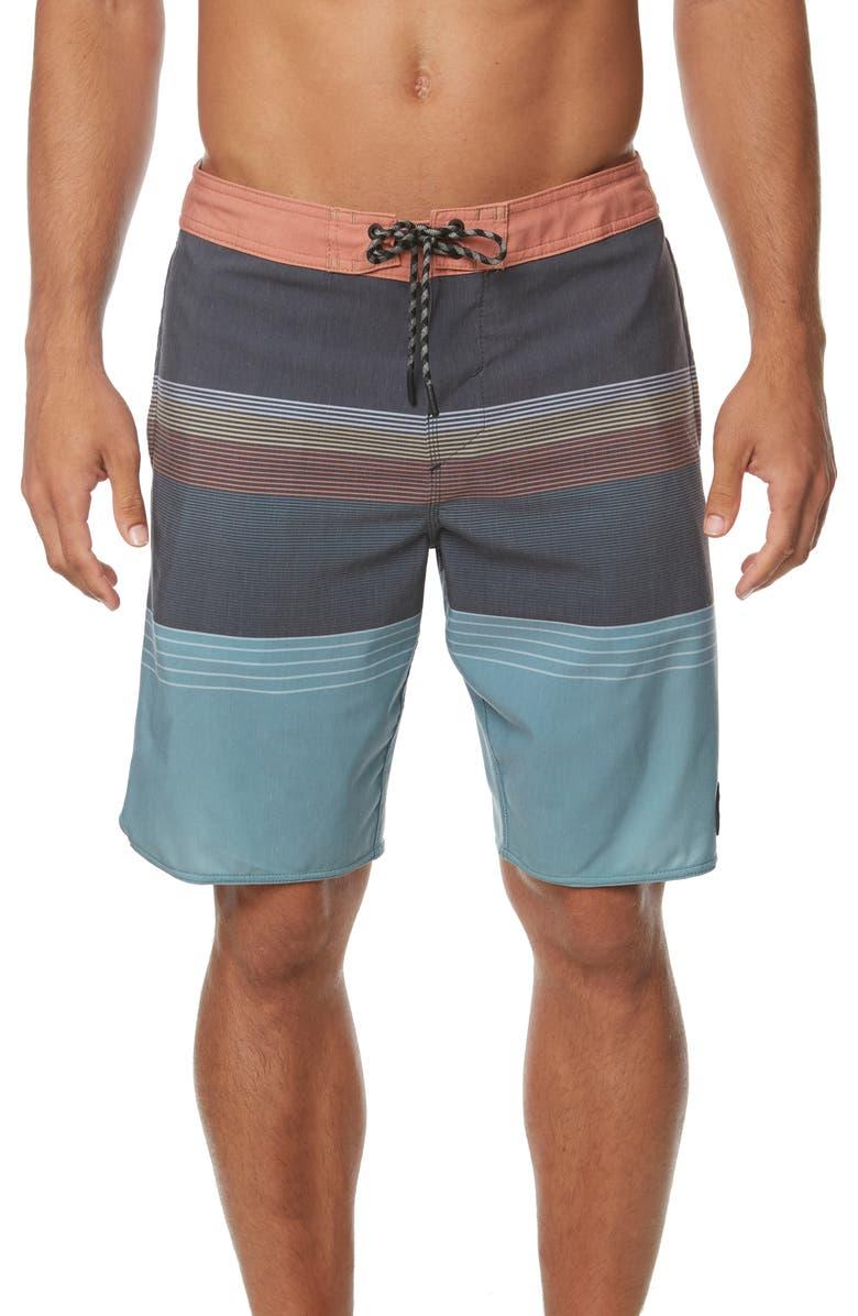 O'NEILL Stripe Club Cruzer Board Shorts, Main, color, 001