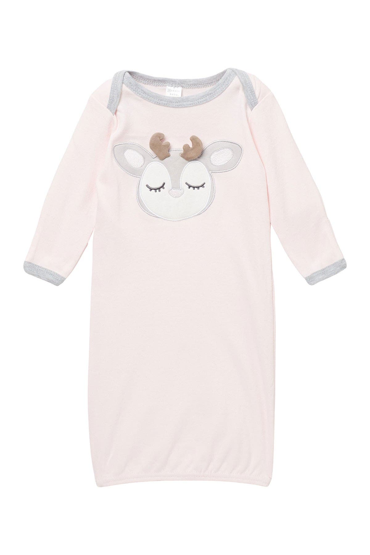 Image of Modern Baby Reindeer Long Sleeve Gown