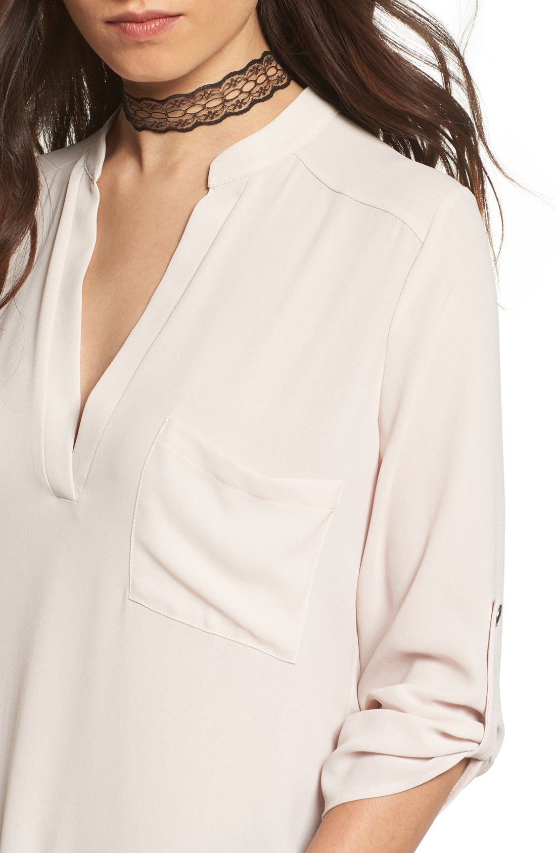 ,                             Perfect Roll Tab Sleeve Tunic,                             Alternate thumbnail 211, color,                             087