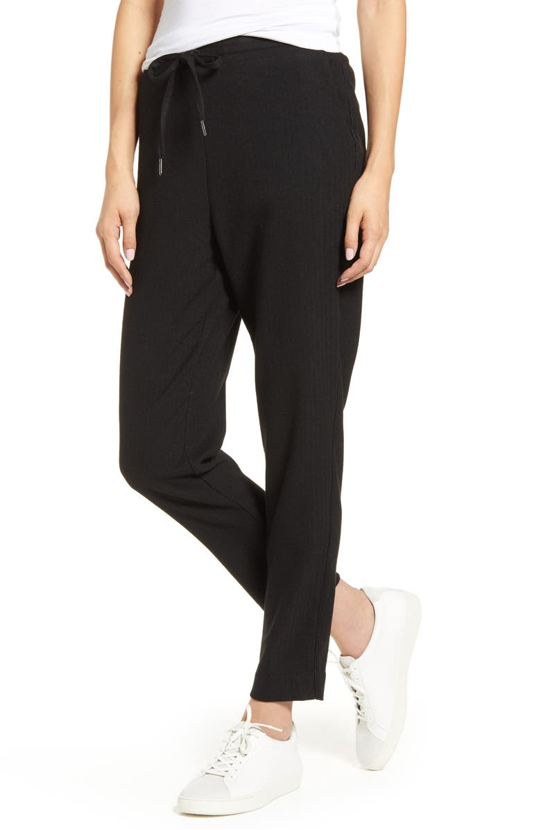 CUPCAKES AND CASHMERE Roman Twill Trouser Joggers, Main, color, BLACK