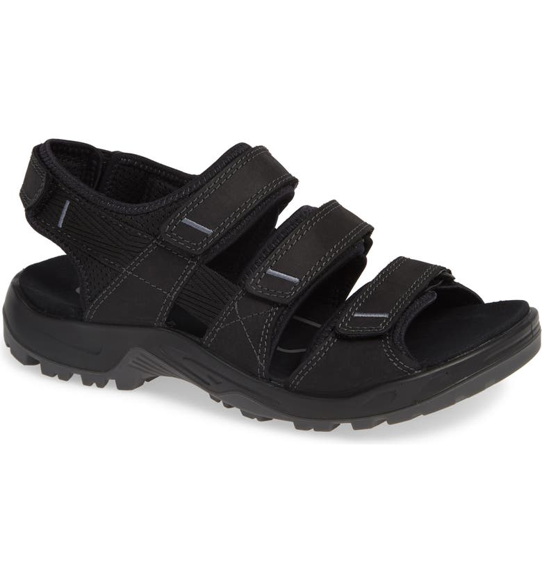 ECCO Offroad Sandal, Main, color, BLACK LEATHER