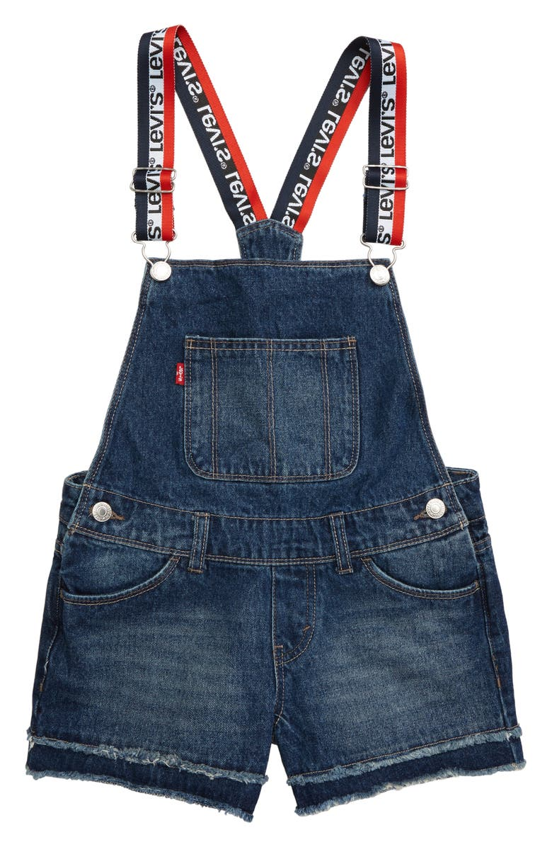 LEVI'S<SUP>®</SUP> Denim Shortalls, Main, color, M0A-OCEAN BLVD TOO