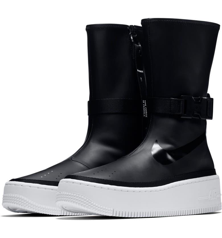 NIKE Air Force 1 Sage High Platform Sneaker, Main, color, 001