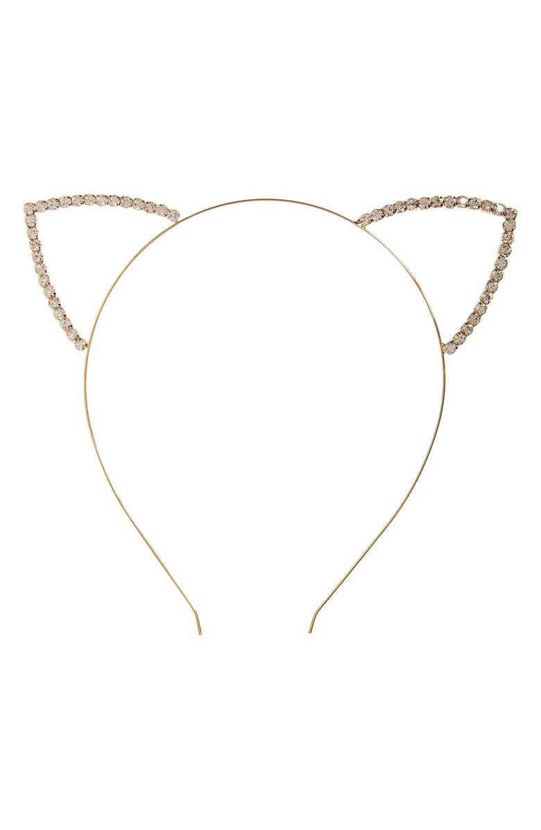 12db8974a 'Meow' Crystal Cat Ear Headband, Main, color, ...