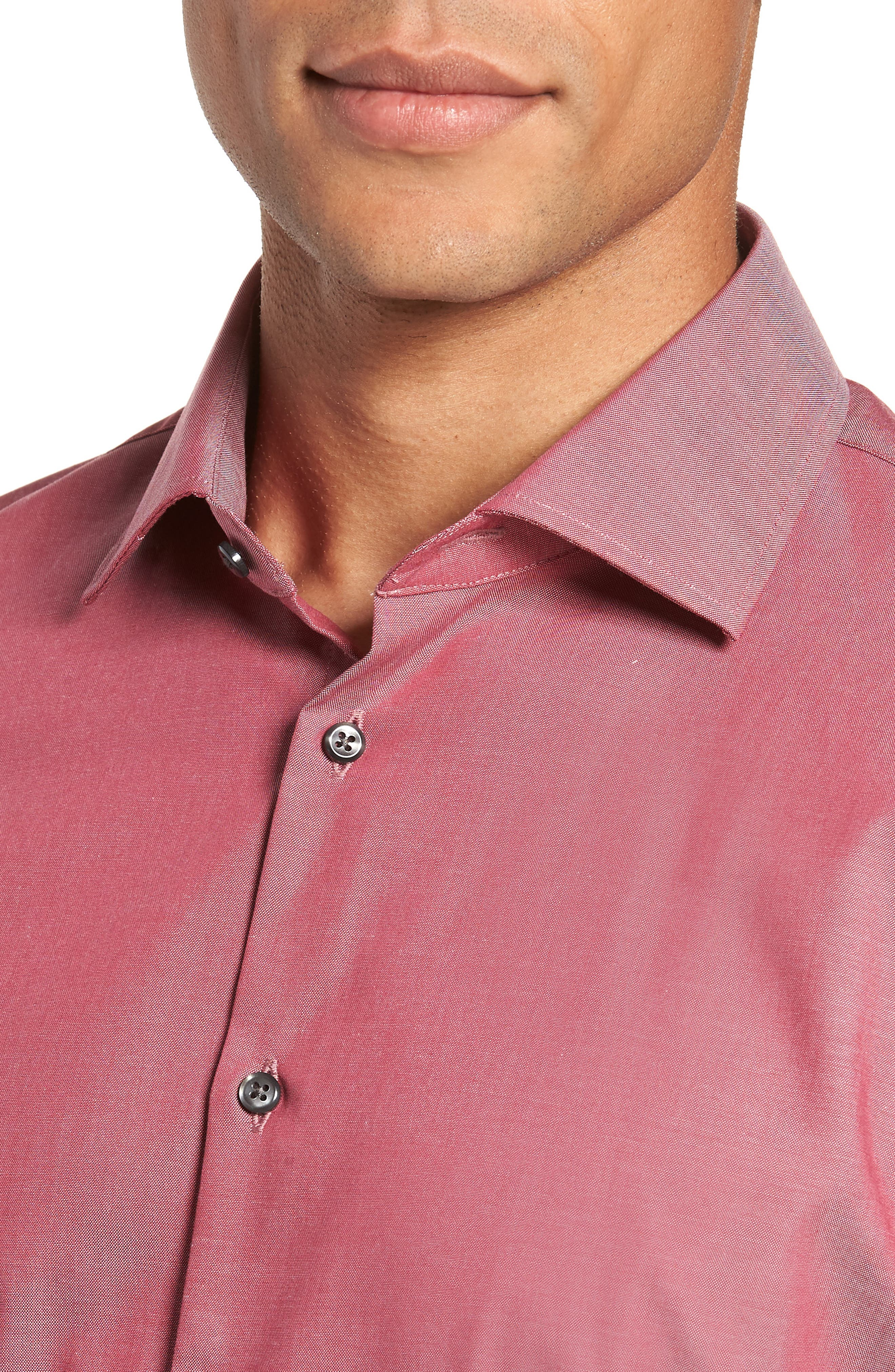 ,                             Extra Trim Fit Non-Iron Solid Dress Shirt,                             Alternate thumbnail 38, color,                             601