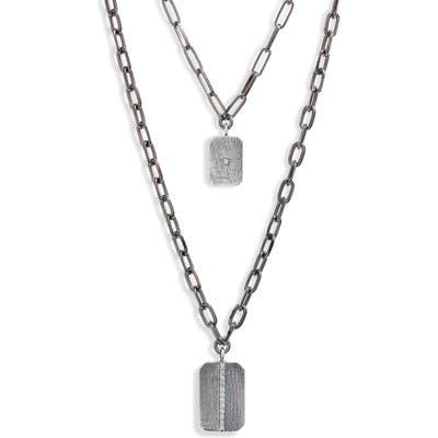 Ela Rae Lara Layered Rectangular Pendant Necklace