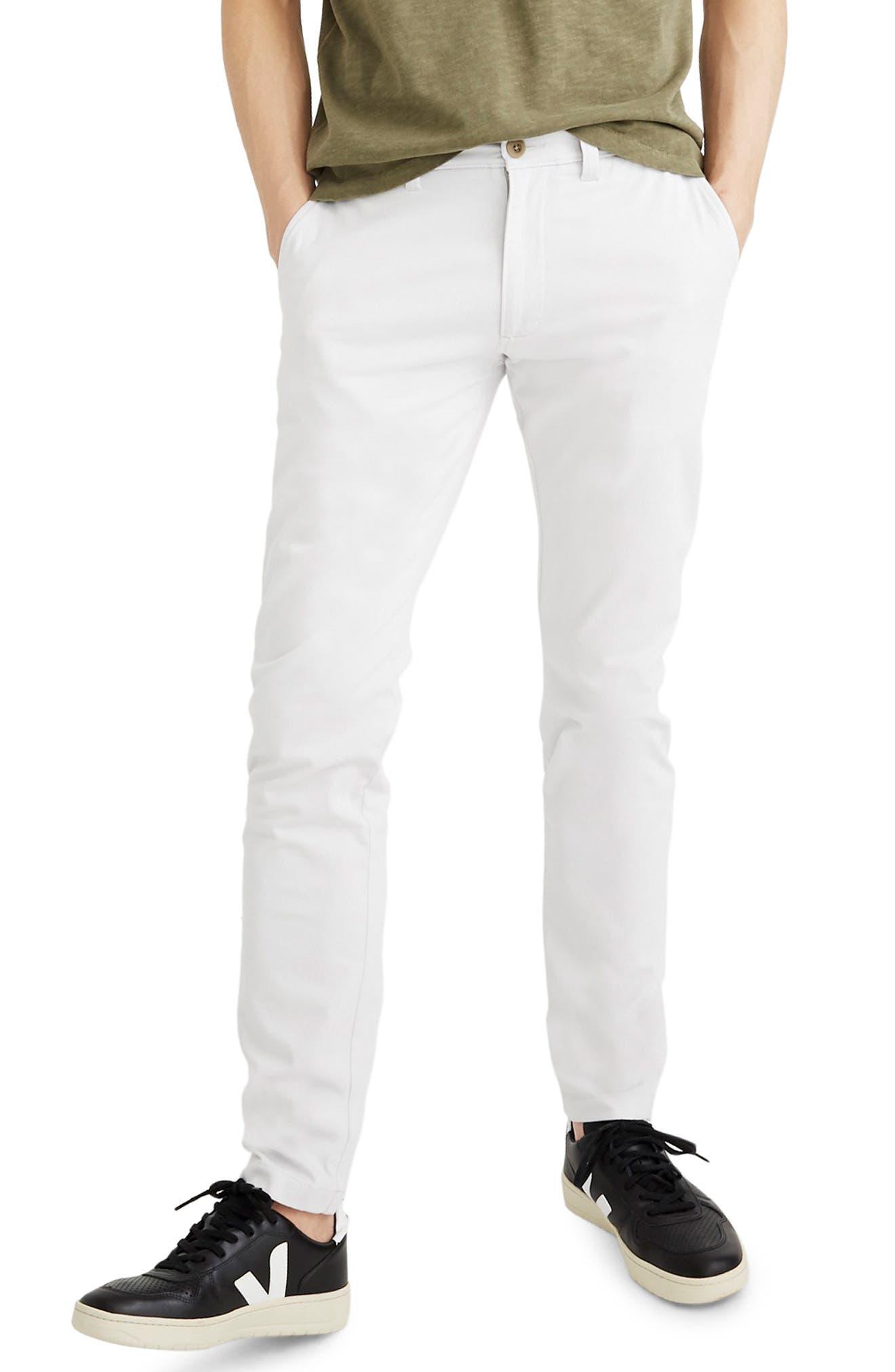 Madewell Penn Slim Fit Chino Pants, Grey