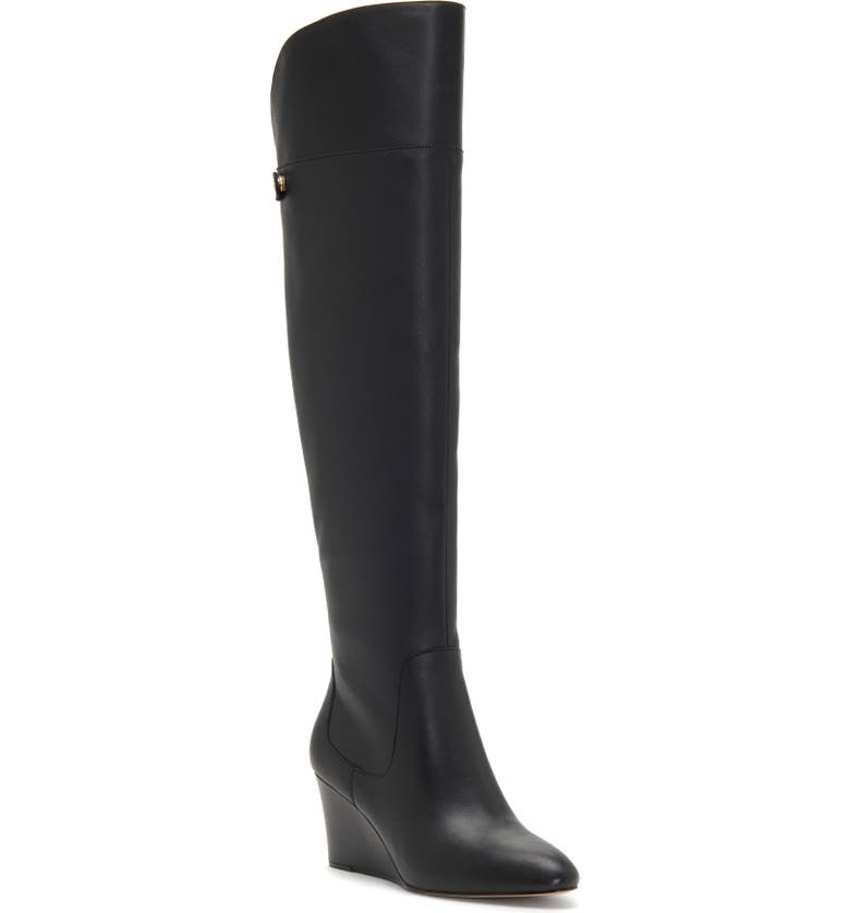 ENZO ANGIOLINI Colitta Over-the-Knee Boot, Main, color, BLACK LEATHER