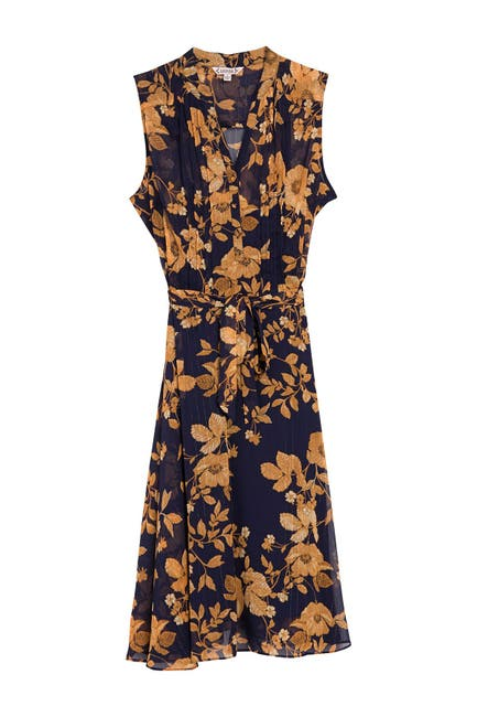 Image of NANETTE nanette lepore Floral Sleeveless Midi Dress