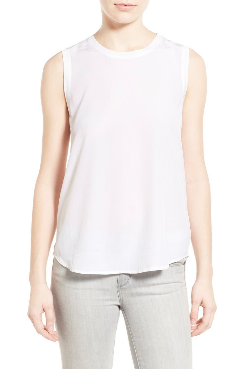 AG Everest Silk Sleeveless Top, Main, color, 100