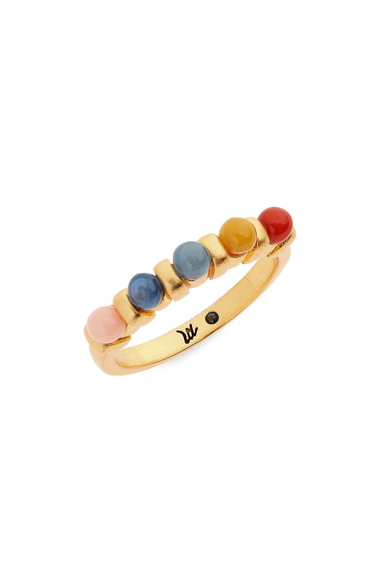 MADEWELL Acrylic Beaded Ring, Main, color, RAINBOW MULTI