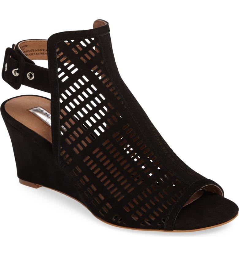 HALOGEN<SUP>®</SUP> Rosina Laser Cut Wedge Sandal, Main, color, 001