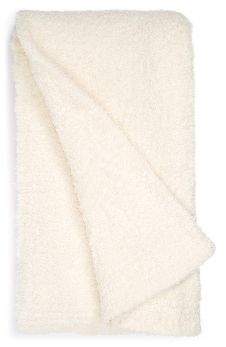 BAREFOOT DREAMS<SUP>®</SUP> CozyChic<sup>™</sup> Throw Blanket, Main, color, CREAM
