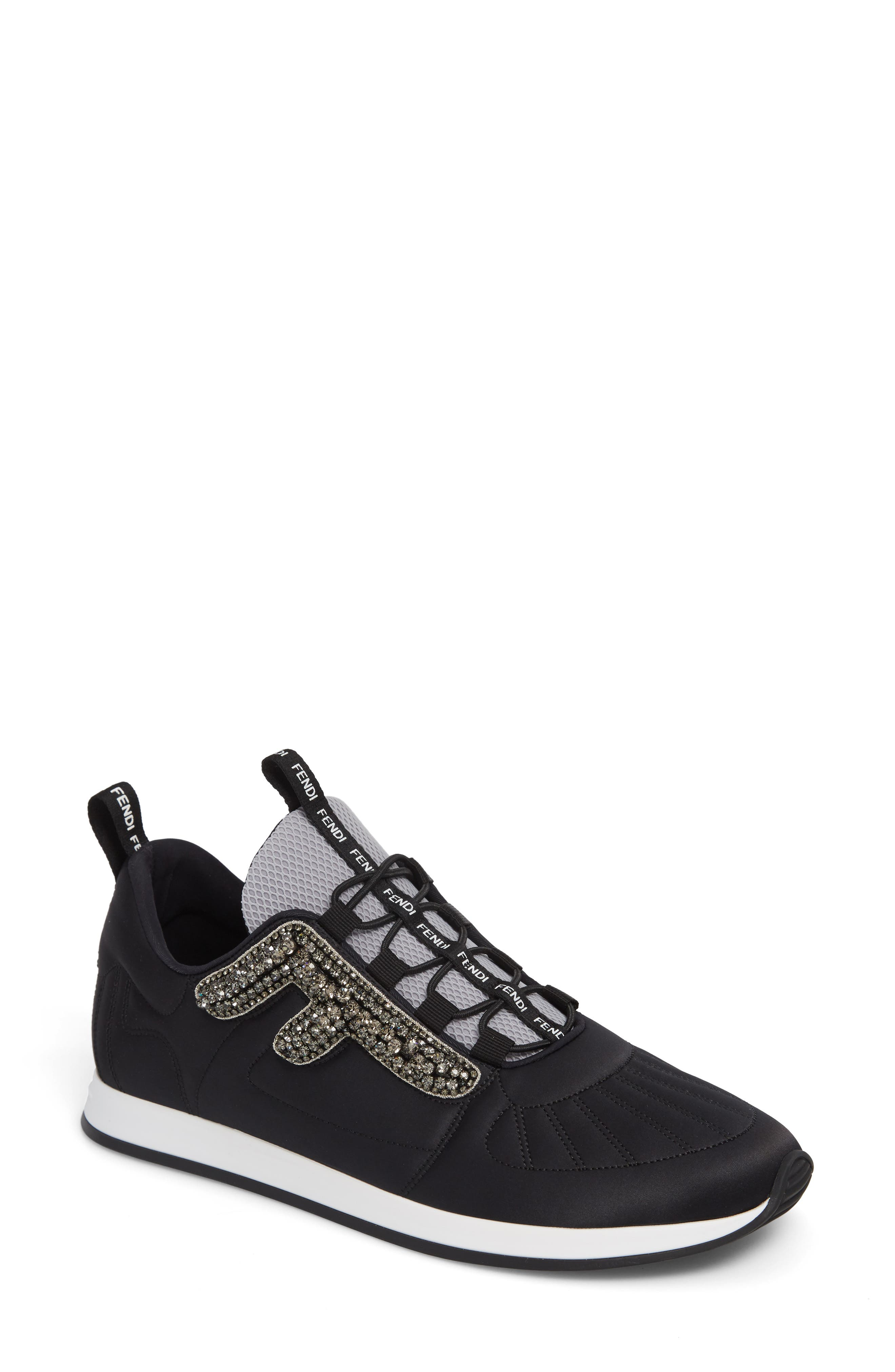 Fendi Ffreedom Jewel Embellished Sneaker - Black