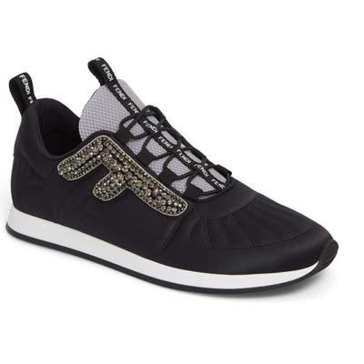 Fendi Ffreedom Jewel Embellished Sneaker, Black