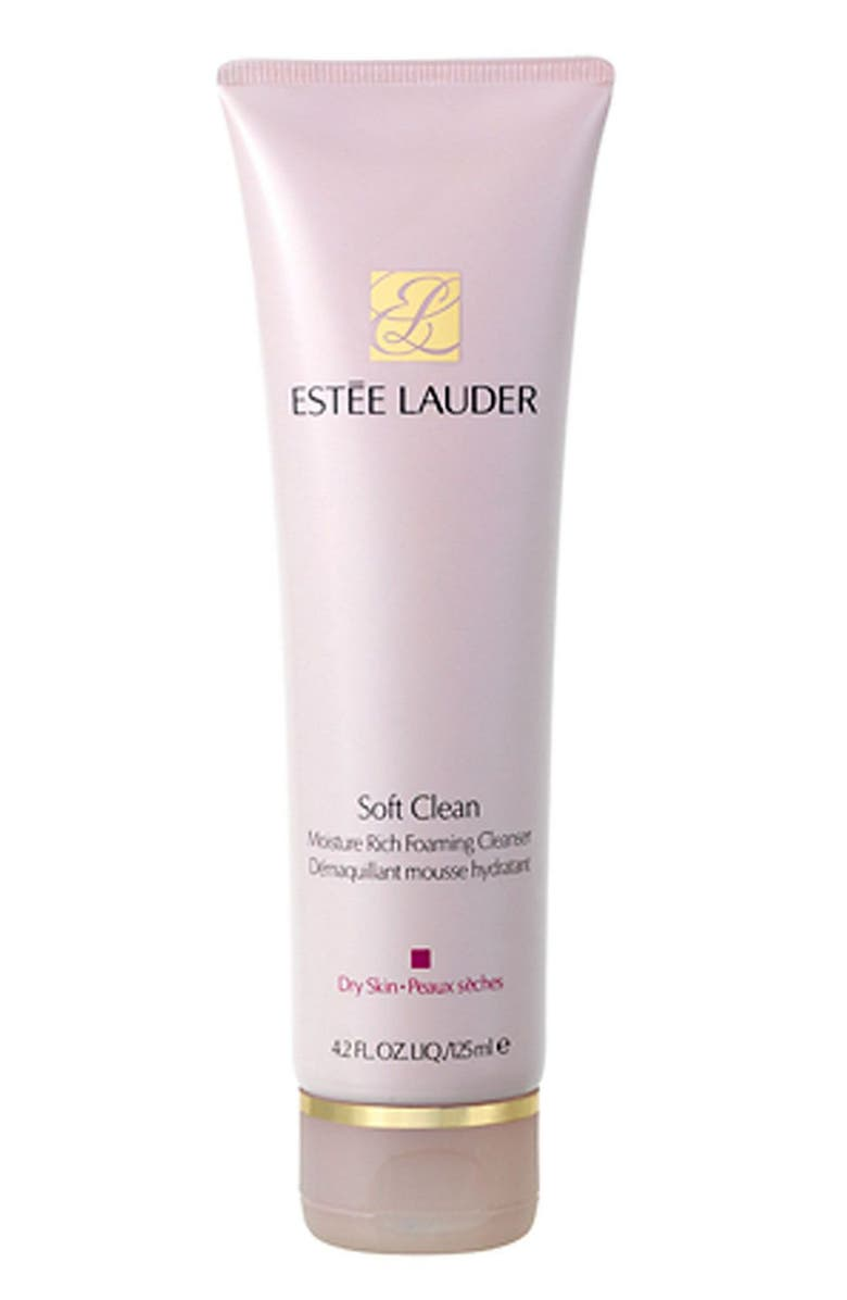 ESTÉE LAUDER Soft Clean Moisture Rich Foaming Cleanser, Main, color, NO COLOR