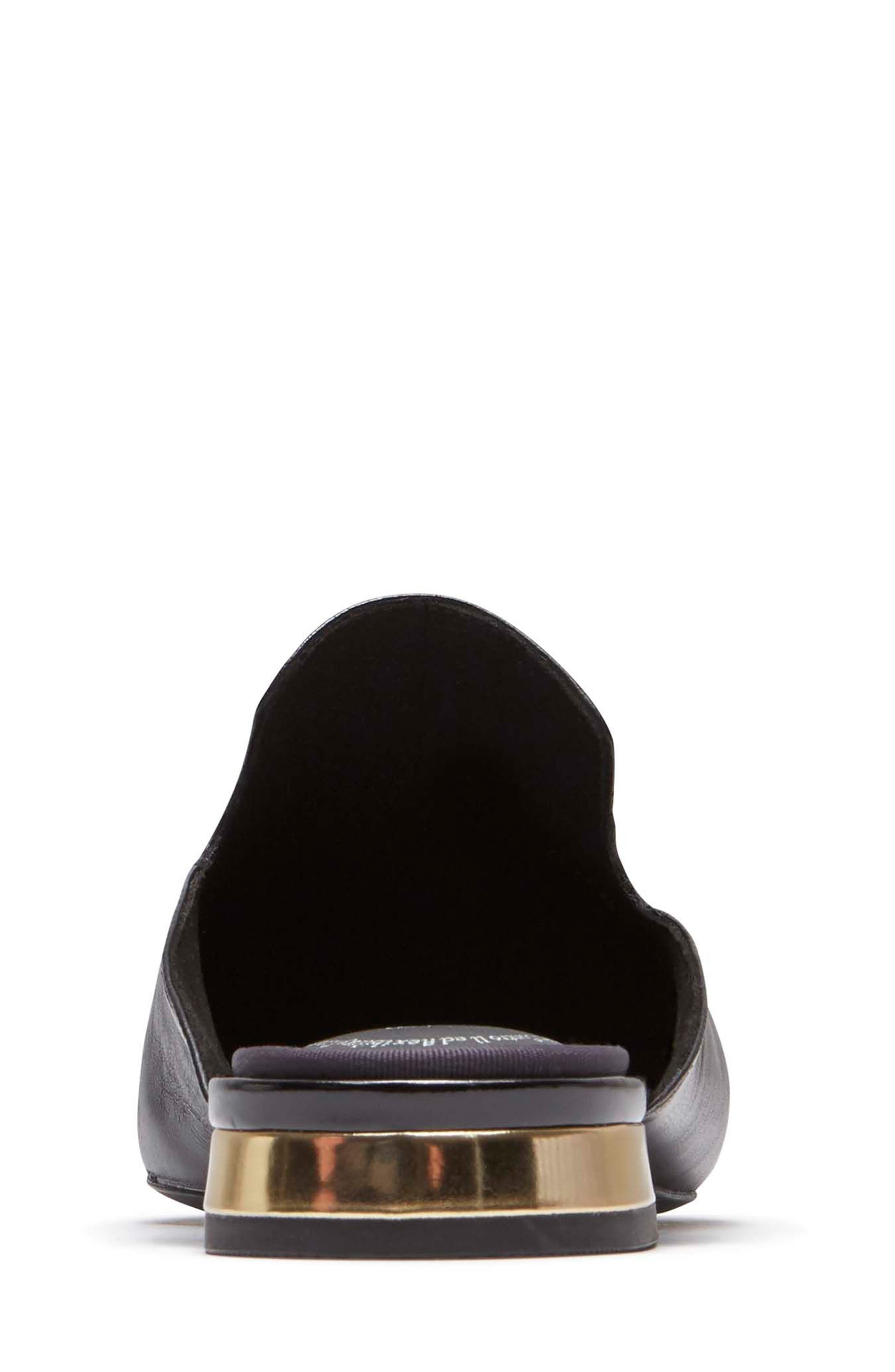 ,                             Total Motion Zuly Tassel Mule,                             Alternate thumbnail 7, color,                             BLACK LEATHER