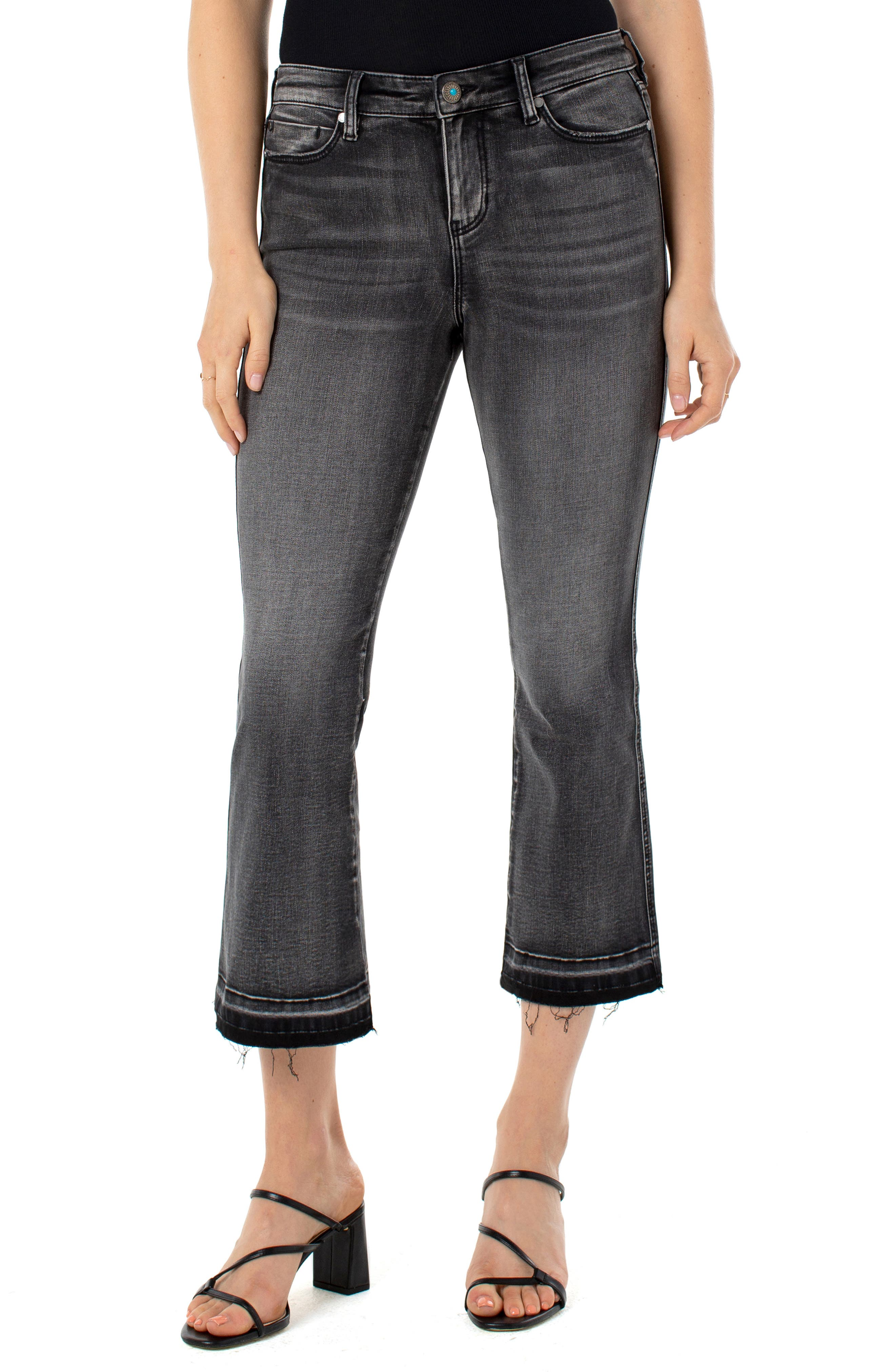 Image of Liverpool Jeans Co Kick Let Down Flare Leg Jeans
