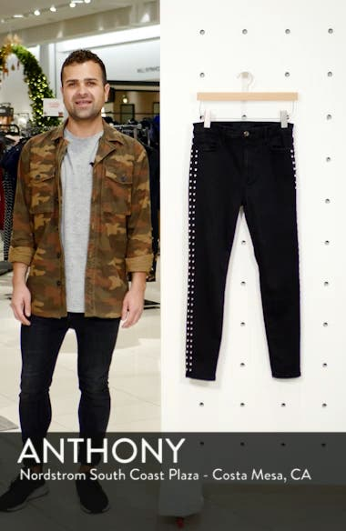 Flawless - Charlie Stud Seam High Waist Ankle Skinny Jeans, sales video thumbnail