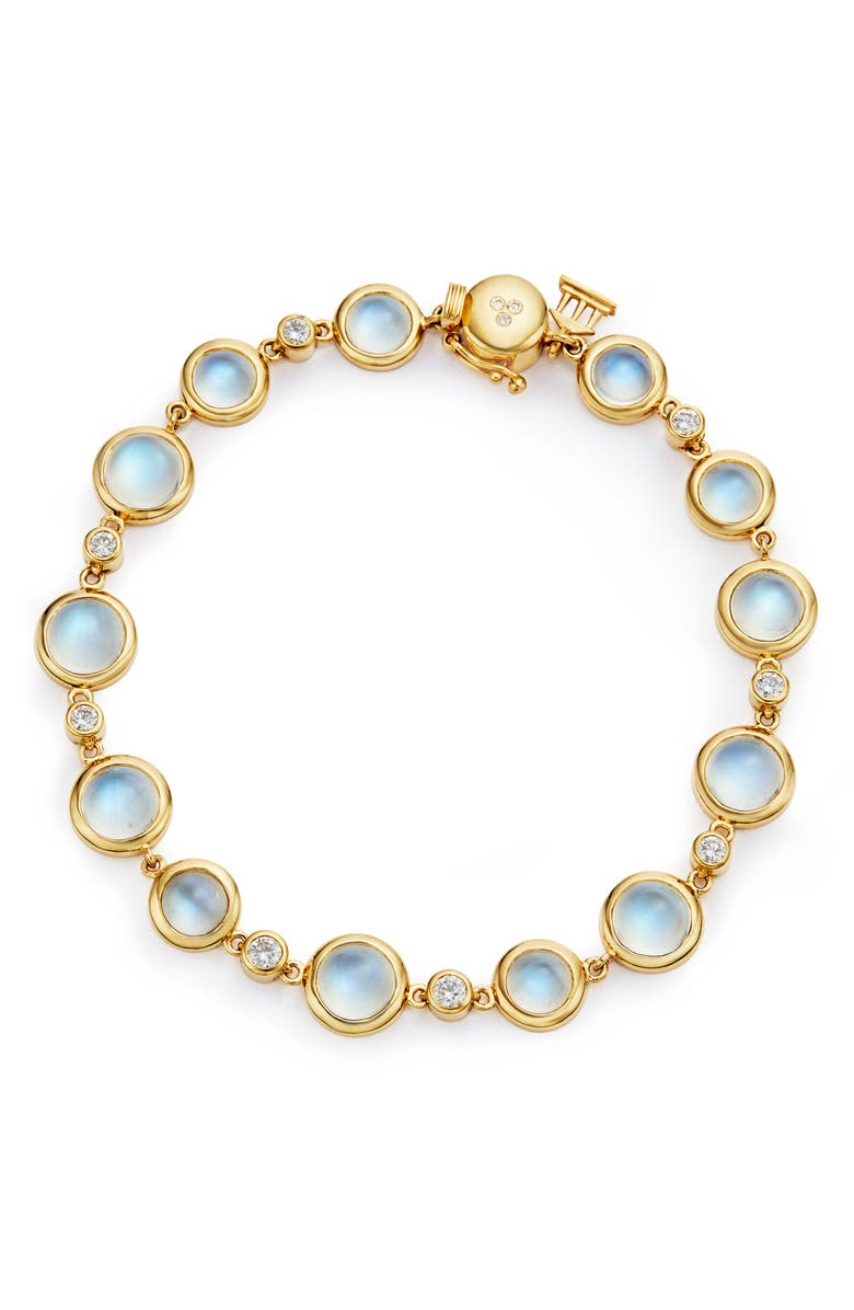 TEMPLE ST CLAIR Temple St. Clair Diamond & Moonstone Bracelet, Main, color, YELLOW GOLD/ BLUE MOONSTONE