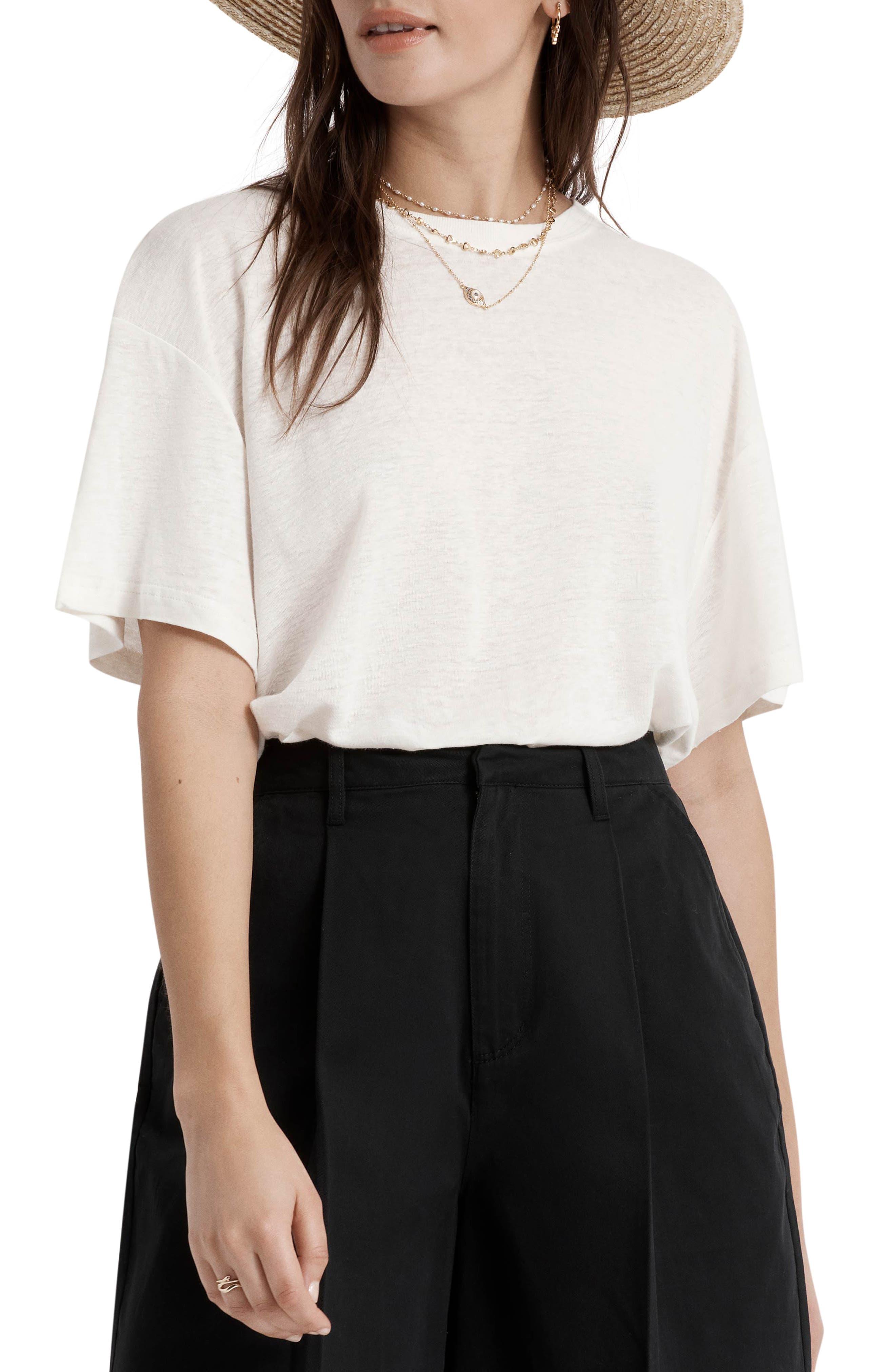 Montauk Oversize Linen Blend T-Shirt