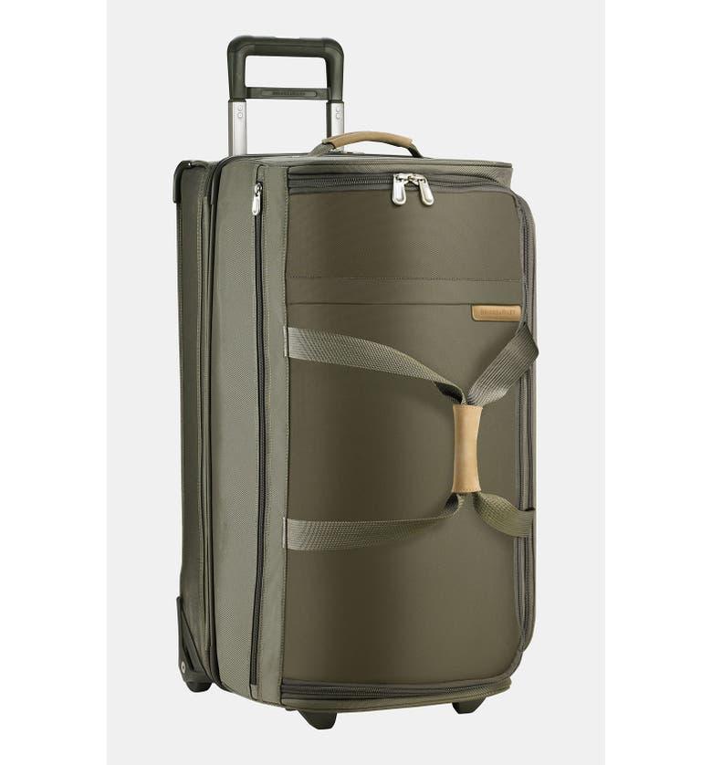 BRIGGS & RILEY Large Baseline 29-Inch Rolling Duffel Bag, Main, color, OLIVE