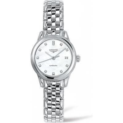Longines Flagship Automatic Diamond Bracelet Watch, 2m