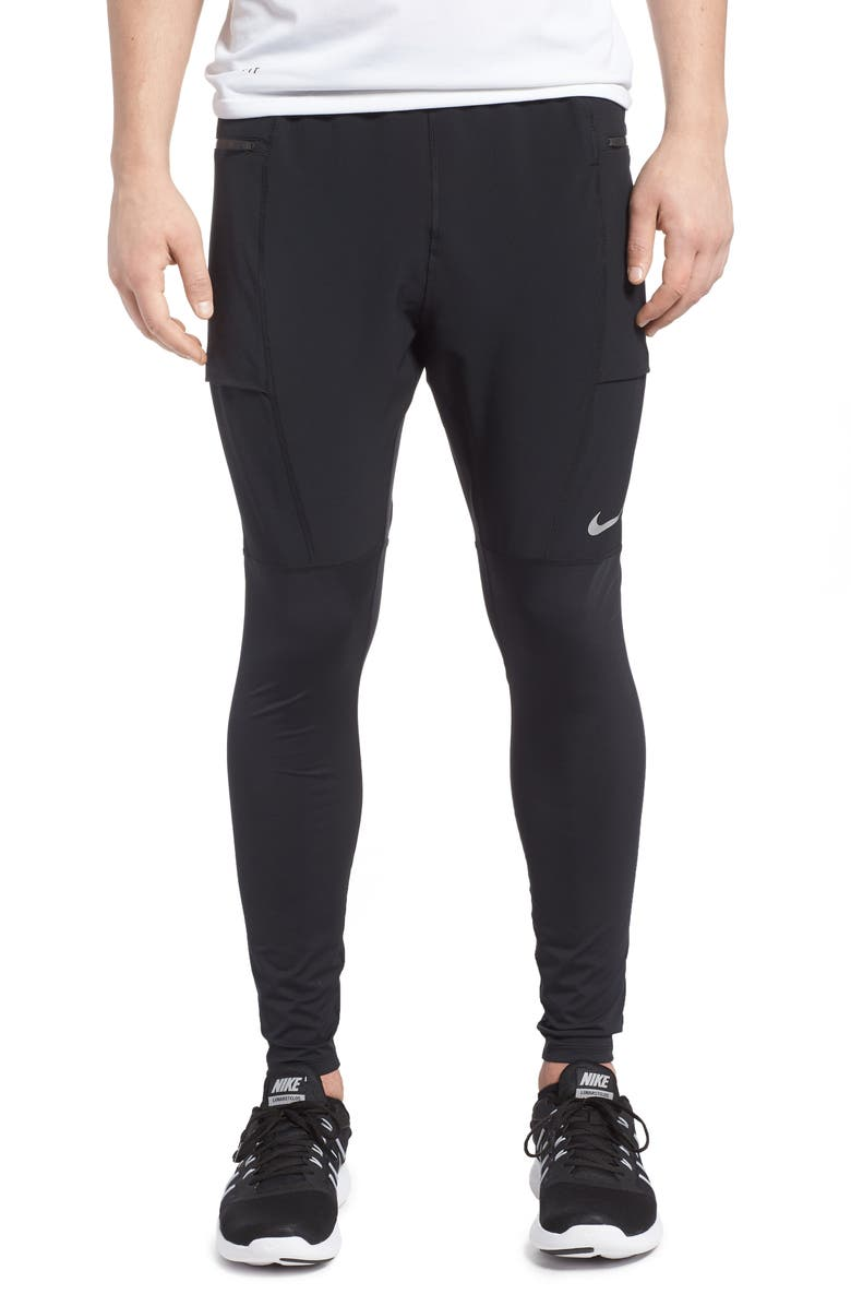 NIKE Utility Running Pants, Main, color, BLACK