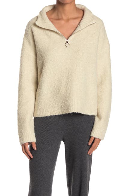 Image of THREAD AND SUPPLY Pretty Thoughts Quarter Zip Sweater