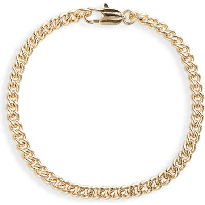 Laura Lombardi Gold Plated Curb Chain Bracelet