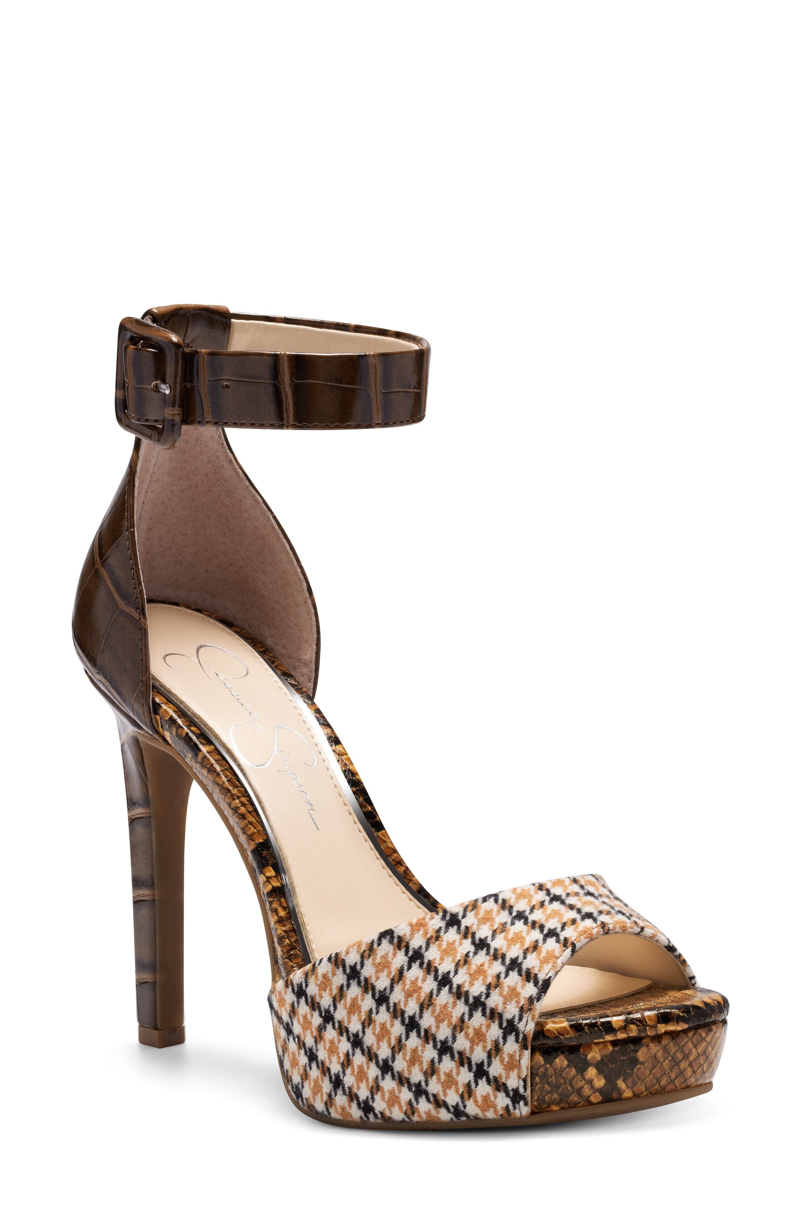 Mixed patterns heighten the eclectic retro style of this standout platform sandal. Style Name: Jessica Simpson Divene Sandal (Women). Style Number: 5869758 2. Available in stores.
