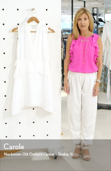 Raelee Sleeveless Ruffle Waist Dress, sales video thumbnail