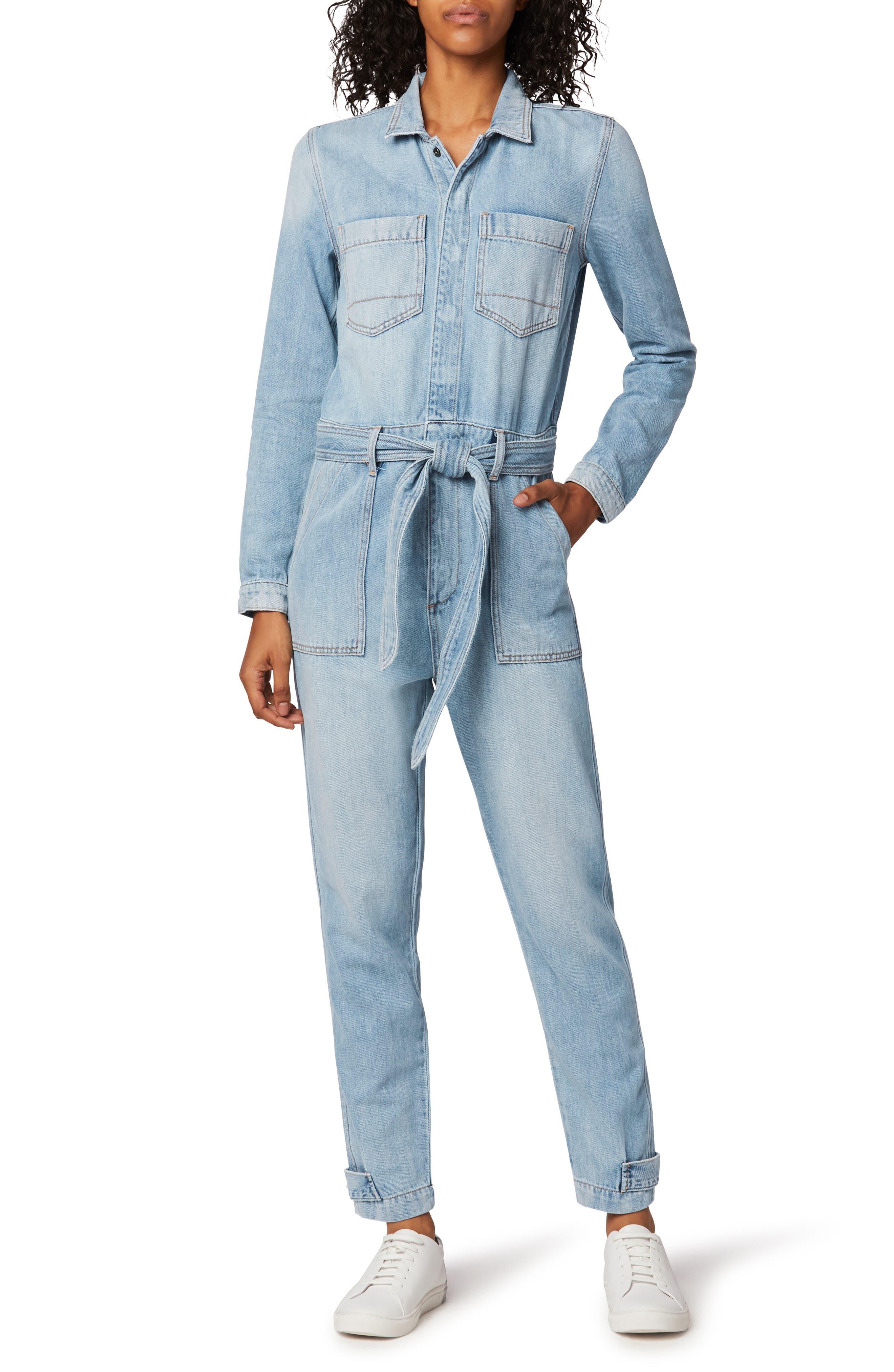 The Alexa Long Sleeve Denim Jumpsuit