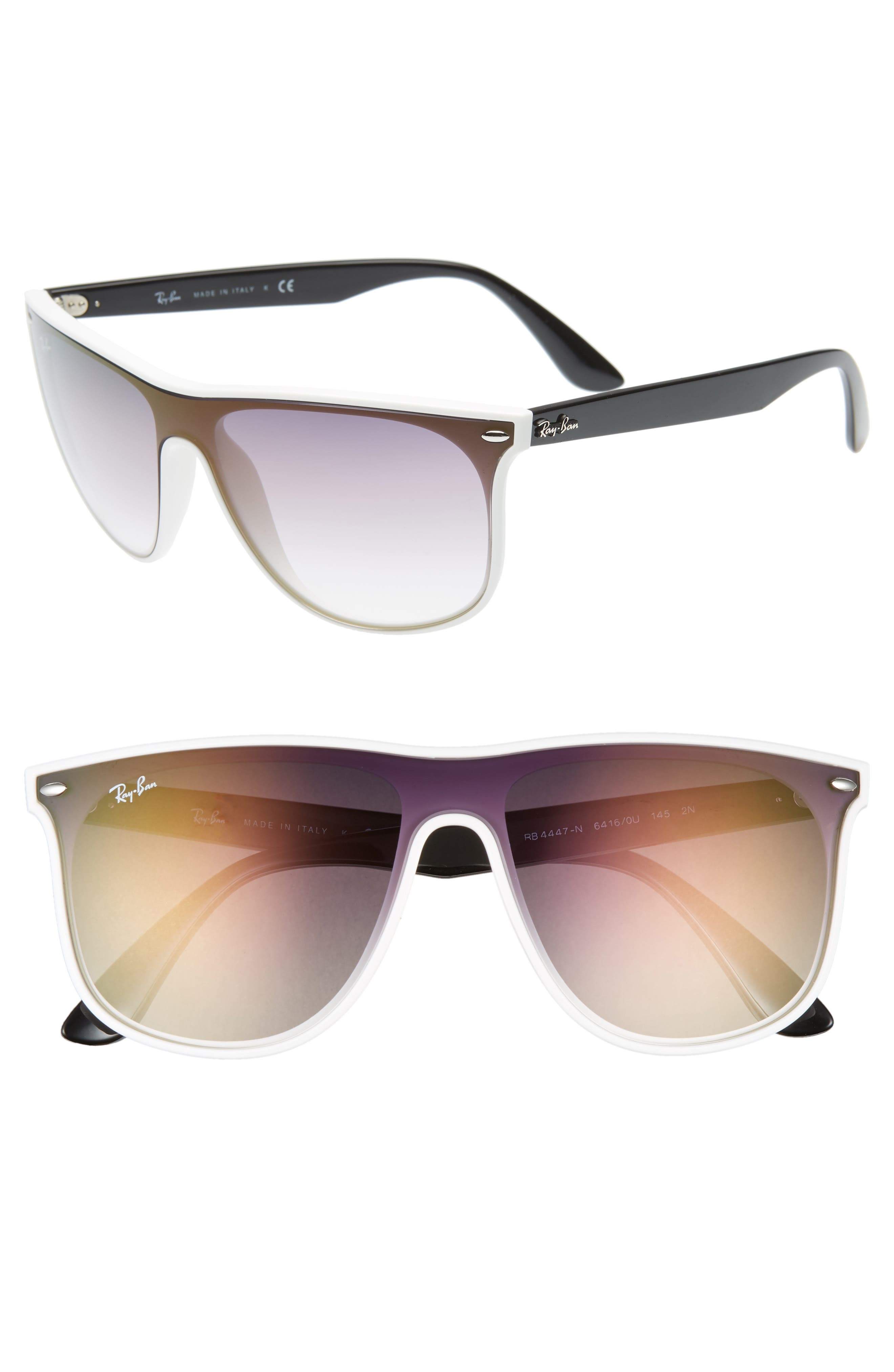 Ray-Ban Blaze 55Mm Sunglasses - White