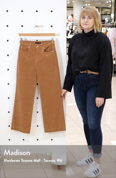 Alexa High Waist Crop Wide Leg Corduroy Pants, sales video thumbnail
