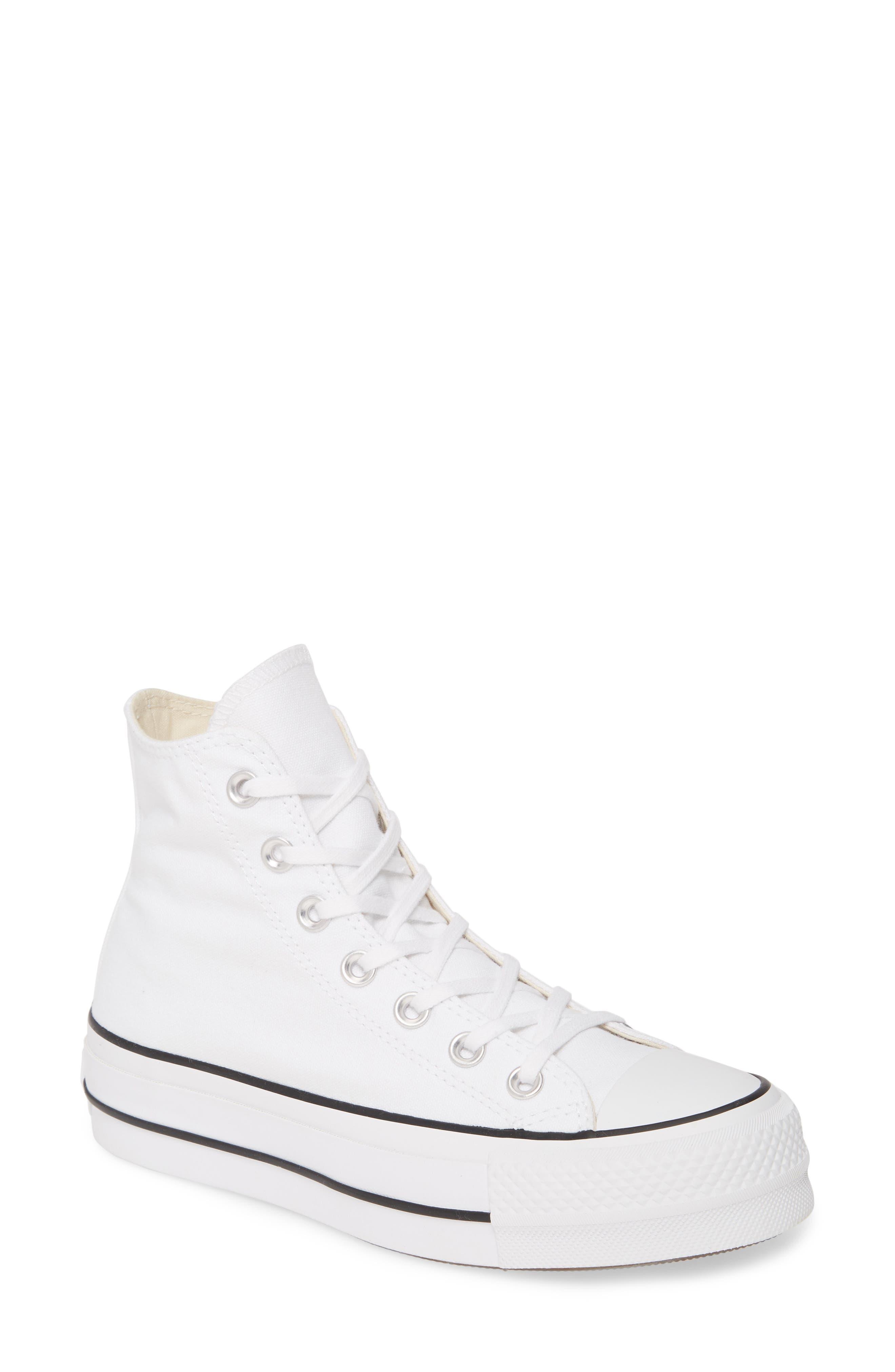 Converse Chuck Taylor All Star Lift High Top Platform Sneaker, White