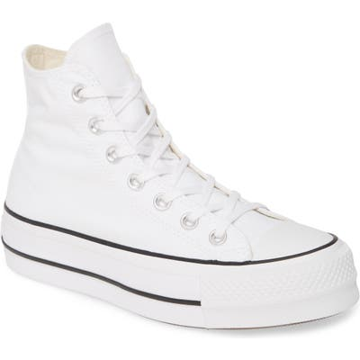 Converse Chuck Taylor All Star Lift High Top Platform Sneaker, White