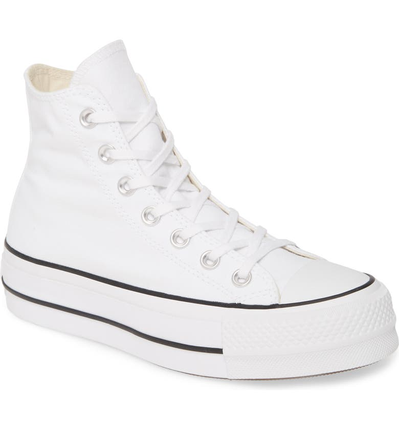 CONVERSE Chuck Taylor<sup>®</sup> All Star<sup>®</sup> Lift High Top Platform Sneaker, Main, color, WHITE/ BLACK/ WHITE