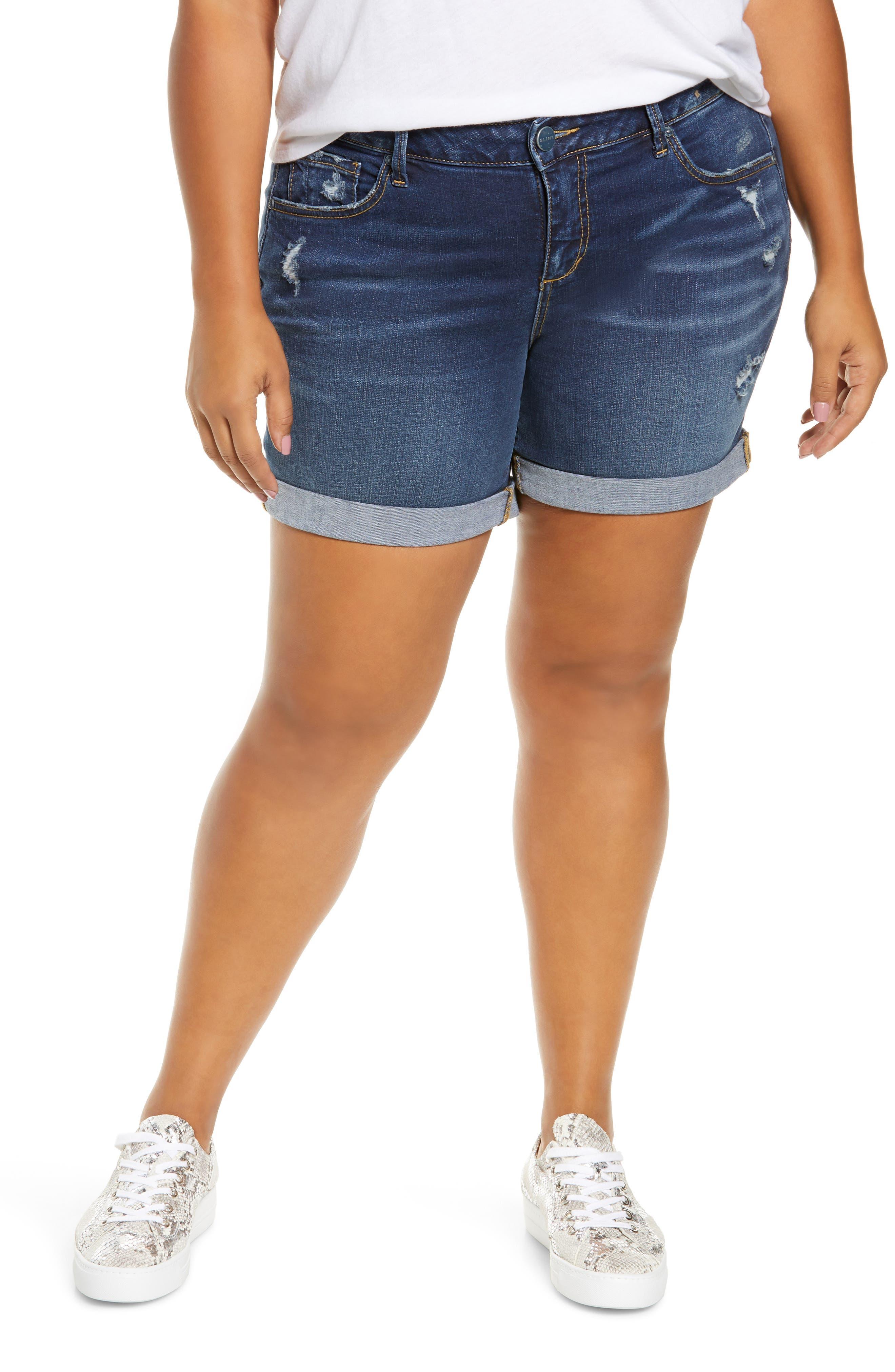 Plus Women's Slink Jeans Roll Cuff Denim Shorts