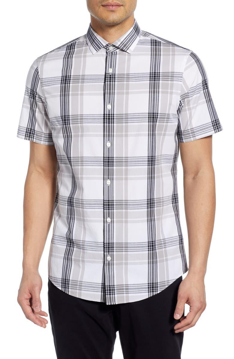 Calibrate Plaid Short Sleeve Button Up Shirt