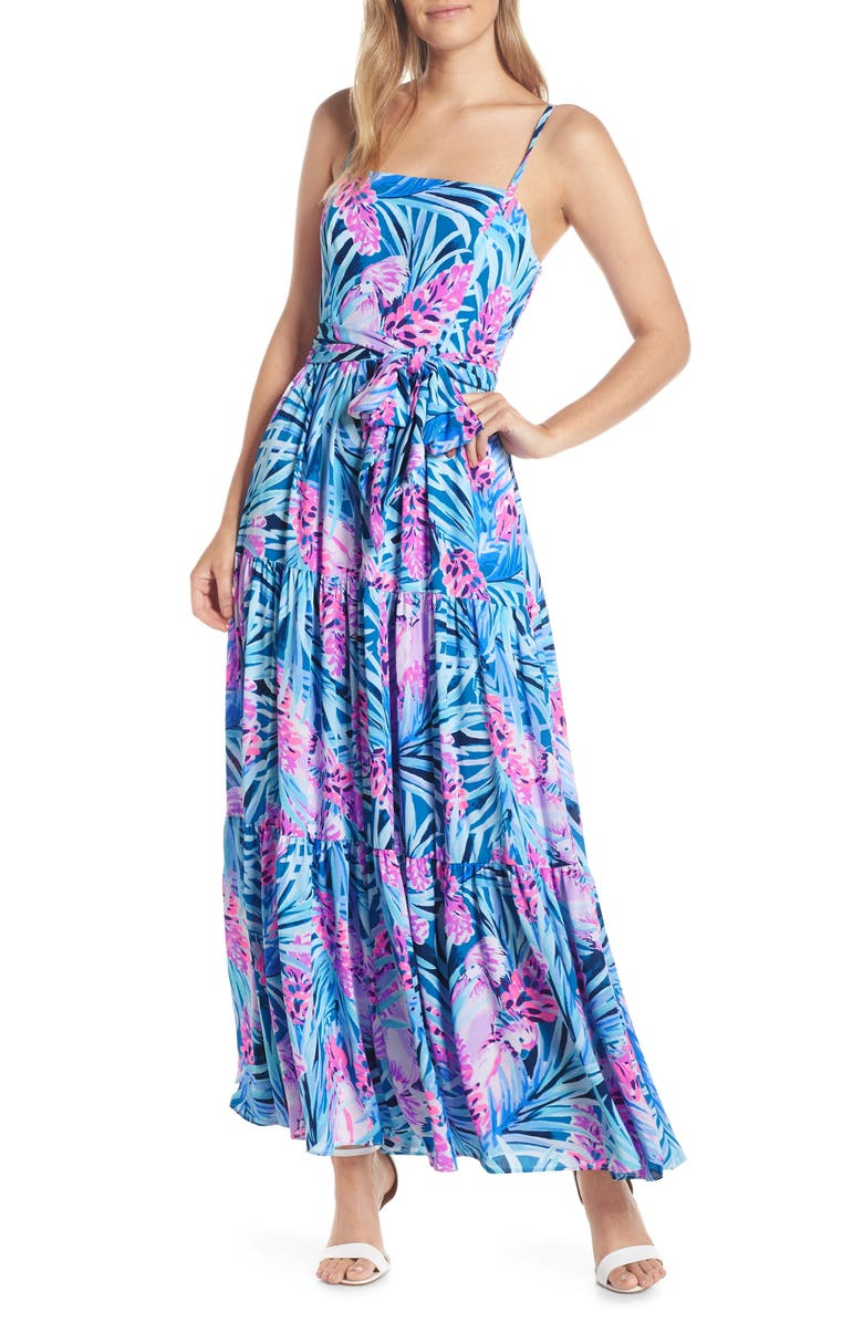 53c05c9cc7 Aviana Maxi Dress, Main, color, MR PEACOCK BLUE TWEETHEARTS